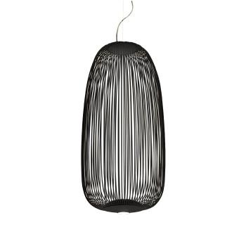 Foscarini Spokes 1 Sospensione dimmbar, schwarz, mit Kabelsonderlänge 10 m