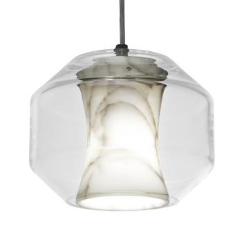 Lee Broom Chamber Small Pendelleuchte, Marmor und Glas