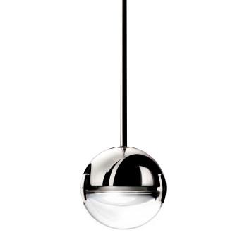Cini & Nils Convivio new LED Sopratavolo Decentrata, Chrom, Glas transparent