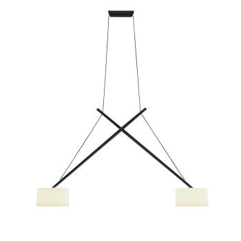 Serien Lighting Twin Suspension, schwarz lackiert, Acrylglas