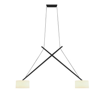 Serien Lighting Twin Suspension, schwarz lackiert, Glas