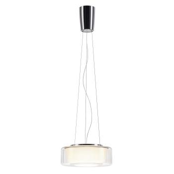 Serien Lighting Curling Suspension Rope M LED, 2700K, Glasschirm klar, Reflektor konisch opal