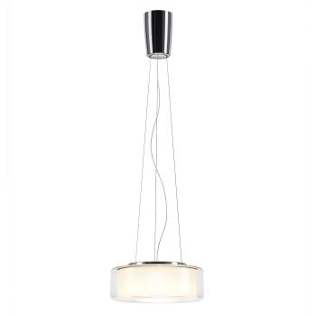 Serien Lighting Curling Suspension Rope M LED, 3000K, Glasschirm klar, Reflektor zylindrisch opal