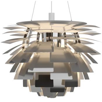 Louis Poulsen PH Artichoke 840 LED, Edelstahl poliert, DALI
