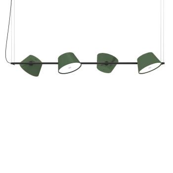 Marset Tam Tam 4, 4 grüne Schirme