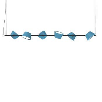 Marset Tam Tam 6, 6 blaue Schirme