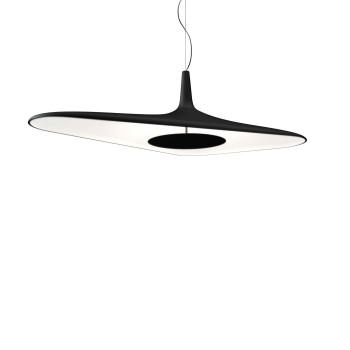 Luceplan Soleil Noir Sospensione, schwarz/ weiß