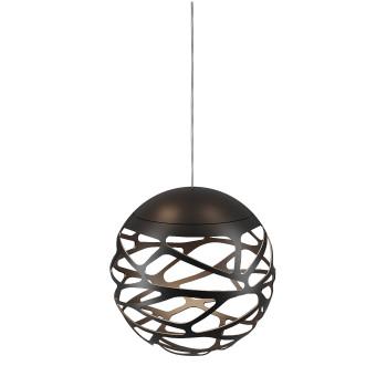 Studio Italia Design Kelly Cluster Sphere, schwarz mit weißem Baldachin