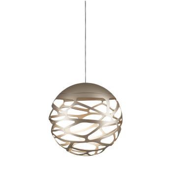 Studio Italia Design Kelly Cluster Sphere, champagner matt mit weißem Baldachin