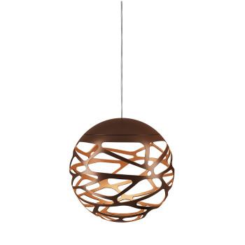 Studio Italia Design Kelly Cluster Sphere, bronze mit weißem Baldachin