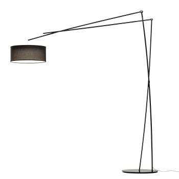 Prandina Effimera F5 LED mit Schirm, schwarz glänzend