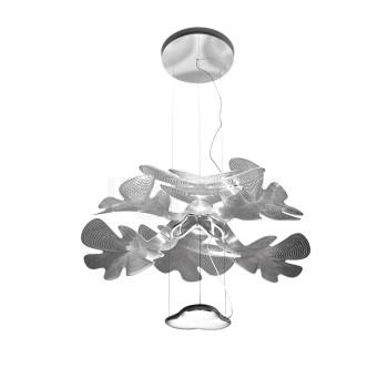 Artemide Chlorophilia, transparente Blätter, verchromte Struktur, App-steuerbar