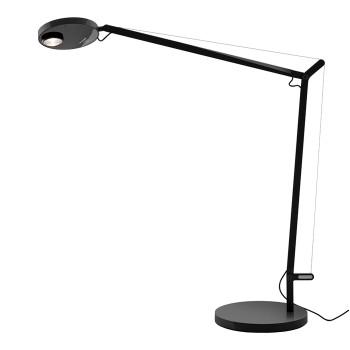 Artemide Demetra Professional Tavolo LED, schwarz matt, mit Anwesenheitssensor