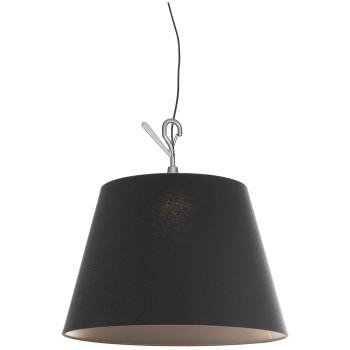 Artemide Tolomeo Paralume Outdoor LED Hook, Schirm Tramato Black (schwarz)