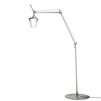 Artemide Tolomeo Lampione Outdoor LED Terra, Aluminium poliert