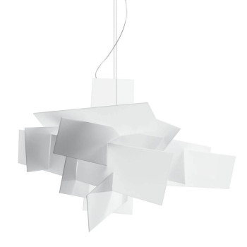 Foscarini Big Bang XL Sospensione LED, weiß, mit Sonderlänge max. 10 m
