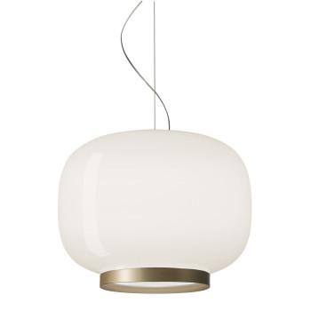 Foscarini Chouchin 1 Reverse LED, weiß/gold, dimmbar Push/DALI