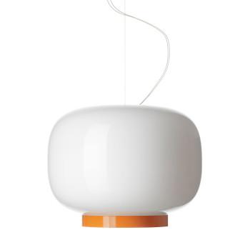 Foscarini Chouchin 1 Reverse LED, weiß/orange, dimmbar Push/DALI, Sonderkabellänge max. 10 m