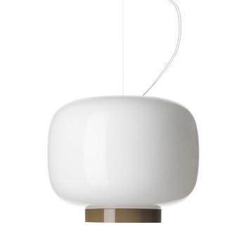 Foscarini Chouchin 3 Reverse LED, weiß/grau, dimmbar Push/DALI, Kabelsonderlänge max. 10 m