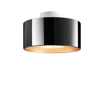 Bruck Cantara Glas Down LED PD C Deckenleuchte, Schirm innen gold, außen schwarz