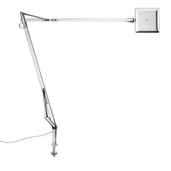 Flos Kelvin Edge mit Schraubbefestigung, chrom, mit sichtbarem Kabel