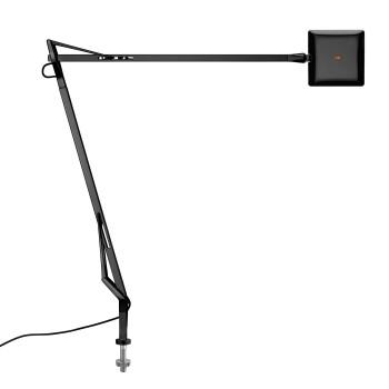 Flos Kelvin Edge mit Schraubbefestigung, schwarz, mit sichtbarem Kabel