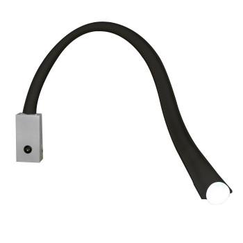 Contardi Flexiled AP L60 mit Schalter, nickel satiniert, Leder schwarz