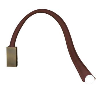 Contardi Flexiled AP L60, Bronze satiniert, Leder dunkelbraun