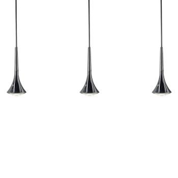 Studio Italia Design Rain 3 Pendelleuchte, Schaft Chrom gebürstet