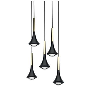 Lodes Rain Cluster 5, Struktur schwarz / Schaft goldfarben