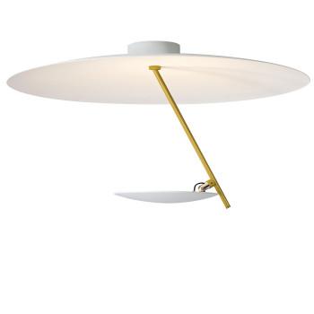 Catellani & Smith Lederam C150, Scheibe oben weiß, Stab Gold, Scheibe unten weiß