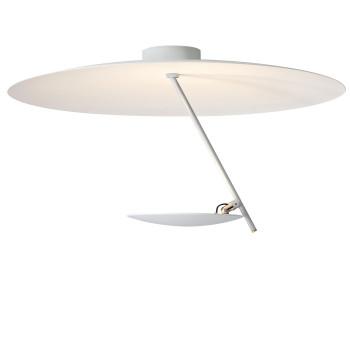Catellani & Smith Lederam C150, Scheibe oben weiß, Stab weiß, Scheibe unten weiß