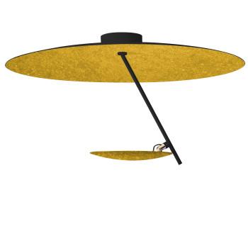 Catellani & Smith Lederam C150, Scheibe oben schwarz/golden, Stab schwarz, Scheibe unten Gold