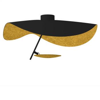 Catellani & Smith Lederam Manta CWS1, Scheibe oben schwarz/golden, Stab schwarz, Scheibe unten Gold