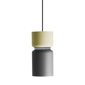 B.Lux Aspen S17A LED, Schirm oben zitronengelb, unten grau