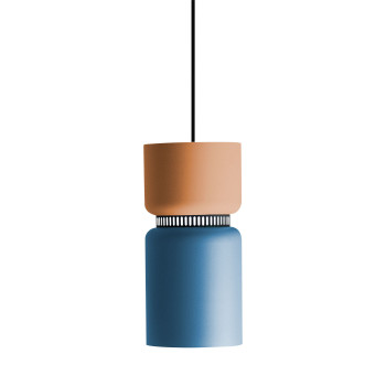 B.Lux Aspen S17A LED, Schirm oben mango, unten blau