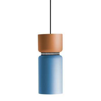 B.Lux Aspen S17B LED, Schirm oben mango, unten blau