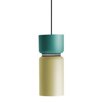 B.Lux Aspen S17B LED, Schirm oben türkis, unten zitronengelb