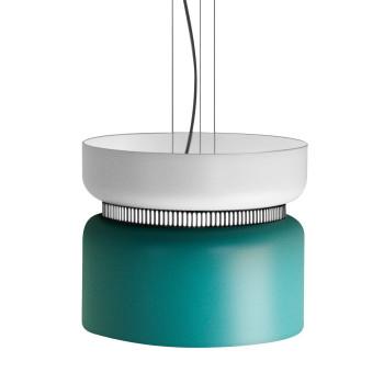 B.Lux Aspen S40 LED, Schirm oben weiß, unten türkis