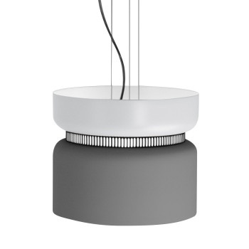 B.Lux Aspen S40 LED, Schirm oben weiß, unten grau