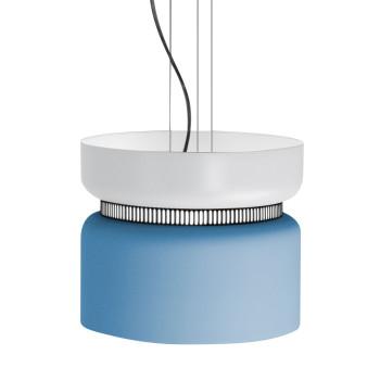 B.Lux Aspen S40 LED, Schirm oben weiß, unten blau