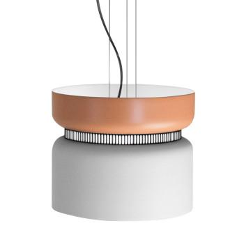 B.Lux Aspen S40 LED, Schirm oben mango, unten weiß