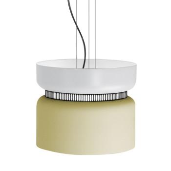B.Lux Aspen S40 LED, Schirm oben weiß, unten zitronengelb