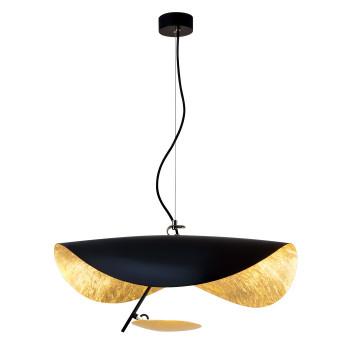 Catellani & Smith Lederam Manta S1, Scheibe oben schwarz/golden, Stab schwarz, Scheibe unten Gold
