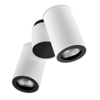 Leds-C4 Pipe zweiflammiger Strahler, weiß