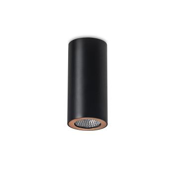Leds-C4 Pipe einflammiger Strahler, schwarz