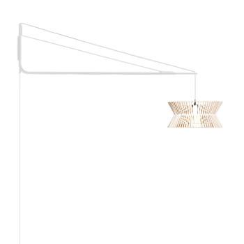 Secto Varsi 1000 + Kontro 6000, abat-jour en bouleau stratifié blanc, structure blanche