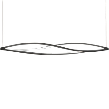 Nemo In The Wind Horiziontal Pendant Light, black, 3.000 Kelvin