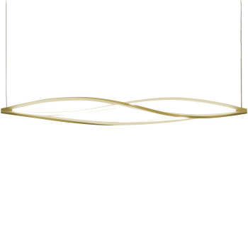 Nemo In The Wind Horiziontal Pendant Light, gold, 2.700 Kelvin