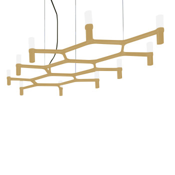 Nemo Crown Plana Chandelier, painted gold